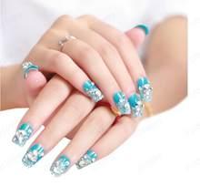 Caixa de noiva Manicure Set Série Diamante Prego Remendo 1 24 AL50 Tablets Unha Pasta Etiqueta do prego