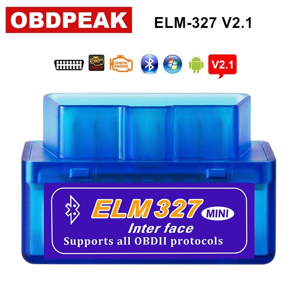 2018 Super Mini ELM327 V2.1 Bluetooth OBD2 Diagnostic Tool ELM 327 Bluetooth Works On Android/Windows OBDII Code Reader Scanner latest super mini elm327 bluetooth v2 1 elm 327 car code reader obd2 car diagnostic tool for obdii protocol for android windows
