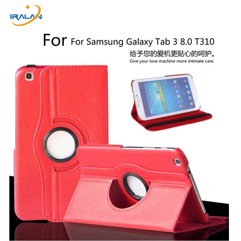Case For Samsung Galaxy Tab 3 8.0 T311 T310 T315 Stand Tablet PU Leather Cover 360 Degree Rotating +Screen Protector+ Stylus pu leather case cover for samsung galaxy tab 3 10 1 p5200 p5210 p5220 tablet