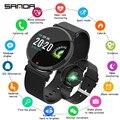 Смарт-часы E28 IP67  водонепроницаемые силиконовые и сетчатые Смарт-часы с монитором сердечного ритма  кровяного давления  мужские и женские См...
