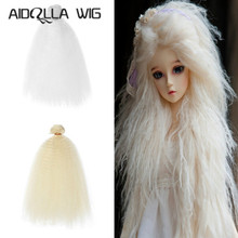 AIDOLLA bjd wig Accessories 1piece 15*100CM doll hair for 1/3 1/4 1/6 1/12 Gradient Color Natural Color Curly bjd wigs diy new arrival 1 piece 100cm long wigs wave small curly long wig hair tree for 1 3 1 4 1 6 bjd diy dolls hair