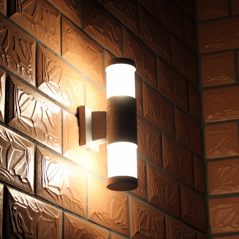Modern Exterior Lights #27: Up And Down Led Waterproof Wall Outdoor Light Aluminum Wall Lamp Brief Led Garden Exterior Lights