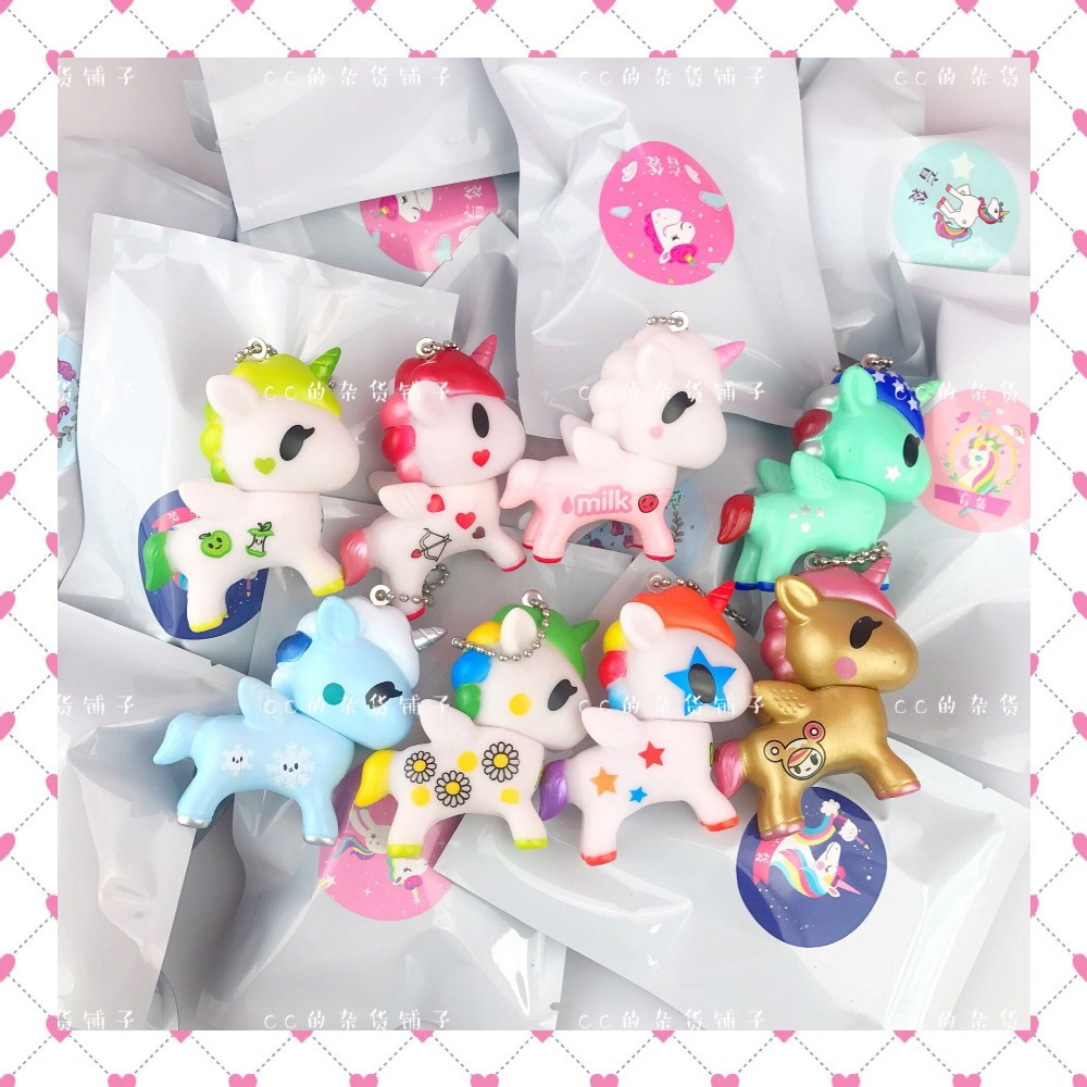 Doll Horse-Toy Unicorn Action-Figure Mermaid Japanese 7cm-Rainbow-Tokidoki Mini Kawaii