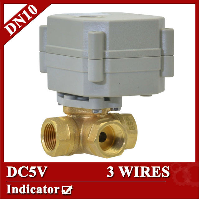 3 8 Horizontal 3 way Electric motorized Valve 3 wires DC5V motorized ball valve DN10 electric_640x640 3 8\