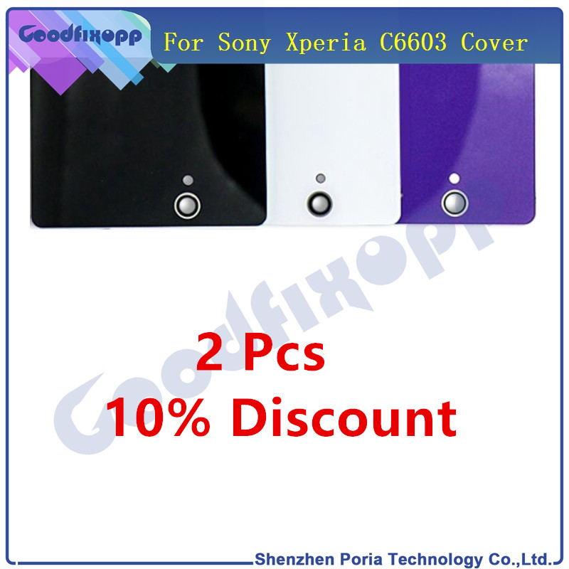 For <font><b>Sony</b></font> <font><b>Xperia</b></font> <font><b>Z</b></font> L36H LT36 C6603 <font><b>C6602</b></font> <font><b>Battery</b></font> Back Cover Rear Door Housing Case <font><b>C6602</b></font> C6603 <font><b>Battery</b></font> Cover Replacement Case image