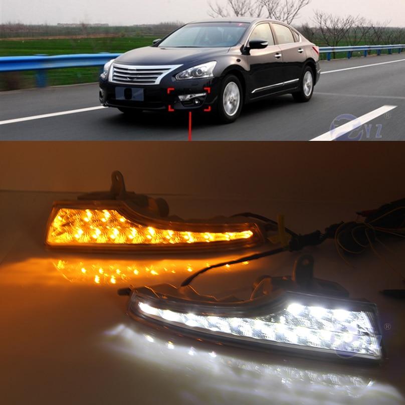Car Flashing 1 Pair DRL For Nissan Teana Altima 2013 2014 2015 2016 Daytime Running Lights