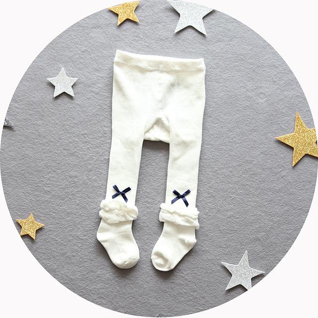 2016 nuevas polainas de las muchachas 100% de algodón recién nacido bebé pantalones de la muchacha linda bow kids leggings traje 4-24 M