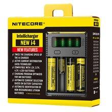 Nitecore Новый I4 зарядное устройство ЖК-дисплей интеллектуальная схема электронная сигарета устройство литий-ионный 18650 14500 16340 26650 Батарея Зарядное устройство