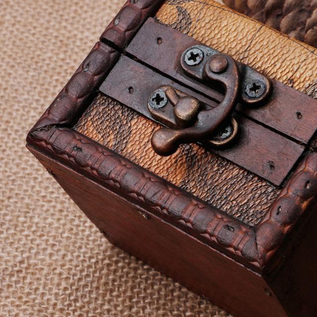 Mini Wooden Vintage Storage Cufflink Gift Box Case
