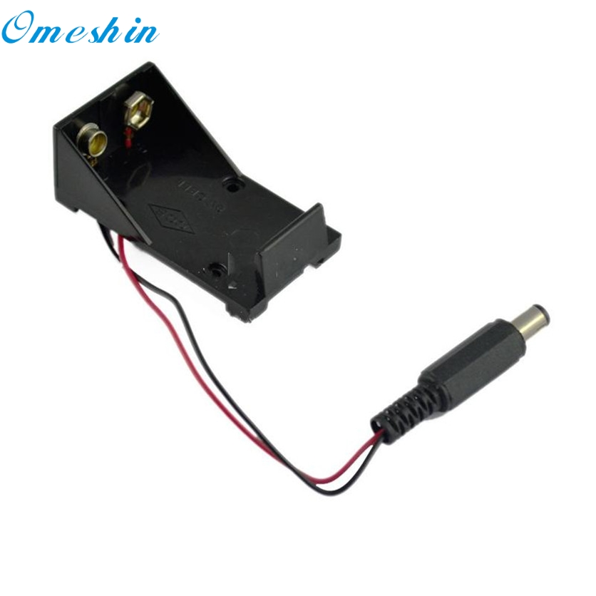 OMESHIN Factory Price <font><b>9V</b></font> KEYES <font><b>Battery</b></font> Holder Box Case Wire with Plug 5.5&#215;2.1mm for <font><b>Arduino</b></font> June27 Drop Shipping