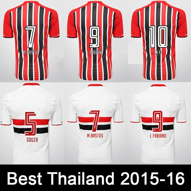 83284726a1 SPFC Soccer Jersey 2016Sao Paulo FC Pato Rogerio Ceni 15 16 Camisa Sao Paulo  2015 Camisa de Futebol Uniforme de Futebol shipping