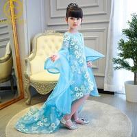 Girls Catwalk Evening Dress Princess Dress Children Wedding Party Beauty Pageant Contest Host Model Carnival Costume