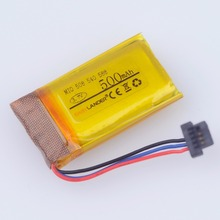 3 7V 500mAh Rechargeable li Polymer battery For DVR GPS MIO mivue 508 battery mivue 540