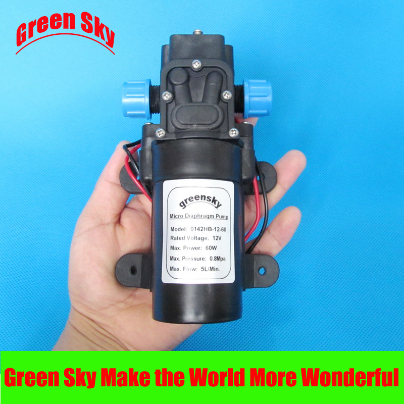 116PSI 5L/Min dc 12v 60W water pump high pressure self-priming 5 5l min 8m range 12v dc 80w vehicle mounted kits high pressure self priming portable water pump for car wash