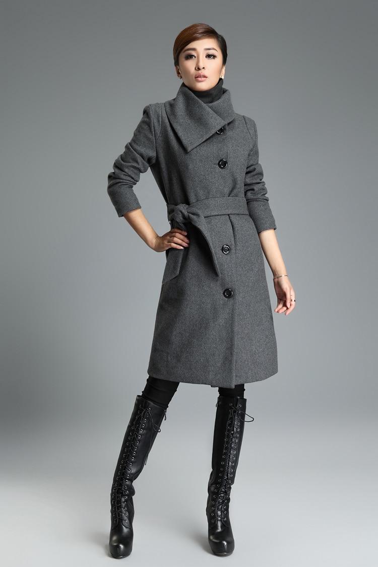 2015 en cachemire manteau grande taille mince dentelle veste