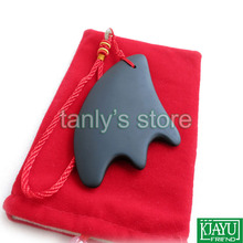 High quatity! 10pcs/lot Wholesale Traditional Acupuncture Massage Tool Guasha Board /Natural Bian stone (triangle shape) traditional acupuncture massage spa tool guasha board natural green agate stone fat u shape