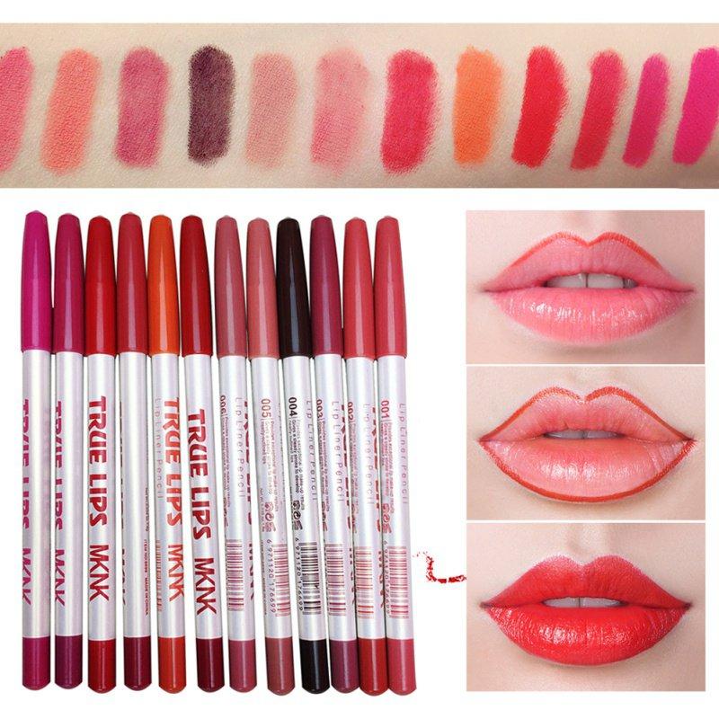 New Women Lips Makeup Lipliner Set Waterproof Lip