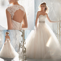 2013 Free Shipping Mermaid Floor Length Chapel Train Sashes Sweetheart Off The Shoulder Sleeveless Backless Tulle