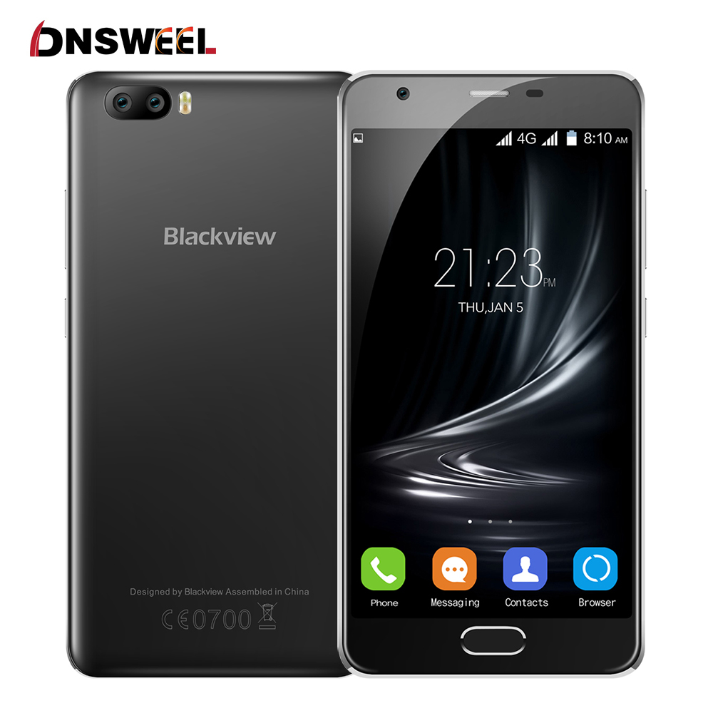Цена за Новый Blackview MTK6737 A9 Pro Смартфон Quad Core 4 Г Сотовый телефон 5.0 дюйма IPS HD 2 ГБ + 16 ГБ Android7.0 Двойные Задние Камеры мобильного телефон