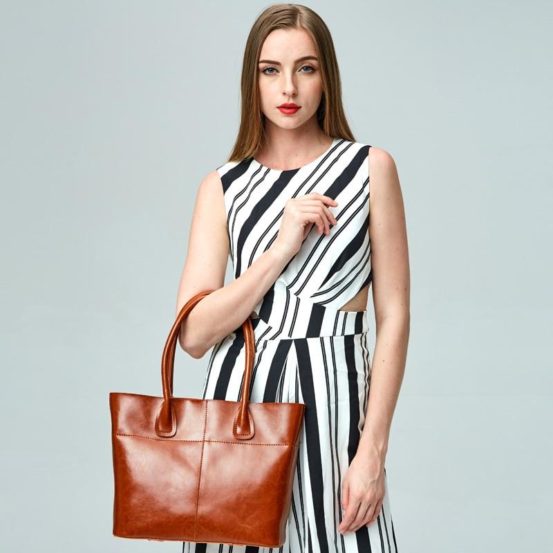 f4afe15f4b18 1 Pcs New Women Handbag Genuine Leather Women Bag Luxury Bag Casual Tote  Handbags