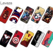 Lavaza Capitão América Silicone Soft Case para o iphone 11 XS Pro Max XR X 8 7 6 6S Plus 5 5S SE(China)