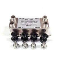 Пластинчатый теплообменник homebrewing Wort Chiller-30 пластинчатых пивоваренных чиллеров, с 4 шт шаровым замком разъединения