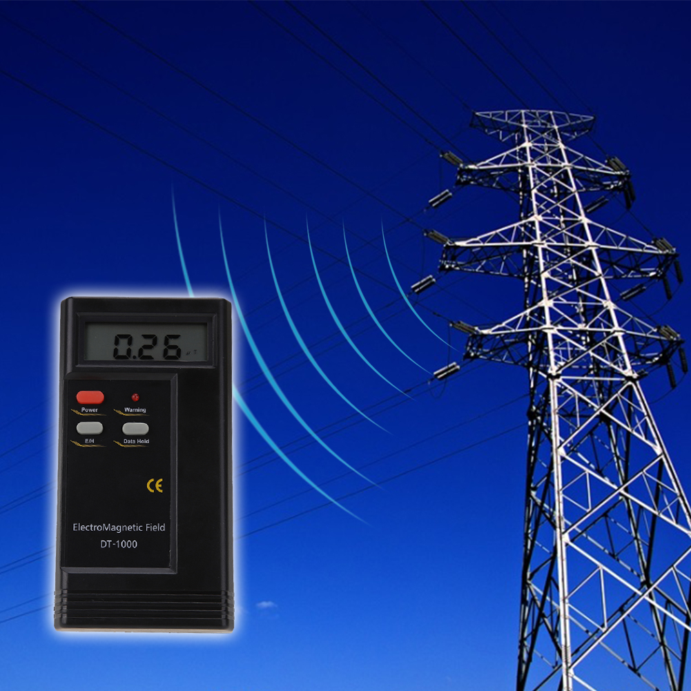 DT-1000 Professional Personal Radiation Dosimeter EMF Detector Digital Radiation Meter LCD Multi-Meter Tester for Computer dt 1130 emf meter for electromagnetic radiation detector 50hz 2000mhz