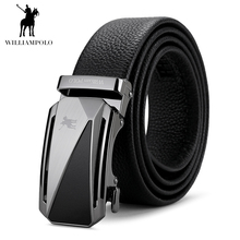 Williampolo 2019 Fashion Belt Long Luxury Buckle Men Genuine Leather Designer Belts High Quality Automatic PL17115P