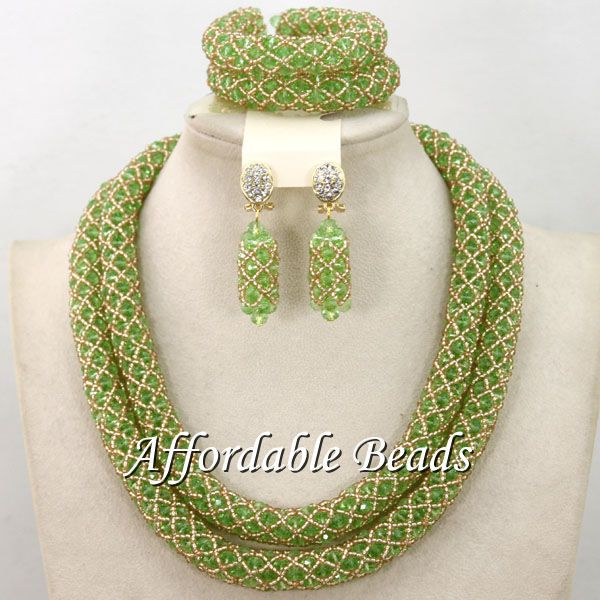 African Beaded Jewelry Rare Bridal Jewelry Set Pretty Design New Arrival Free Shipping BN443 free shipping 10pcs 100% new pretty 531
