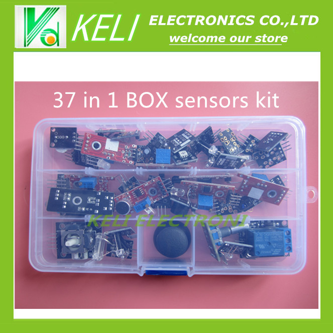 Free Shippiing 37 in 1 box <font><b>Sensor</b></font> Kit For Arduino Starters <font><b>keyes</b></font> brand in stock good quality