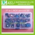 Shippiing livre 37 em 1 Kit caixa Sensor Para Arduino Entradas keyes marca em estoque de boa qualidade