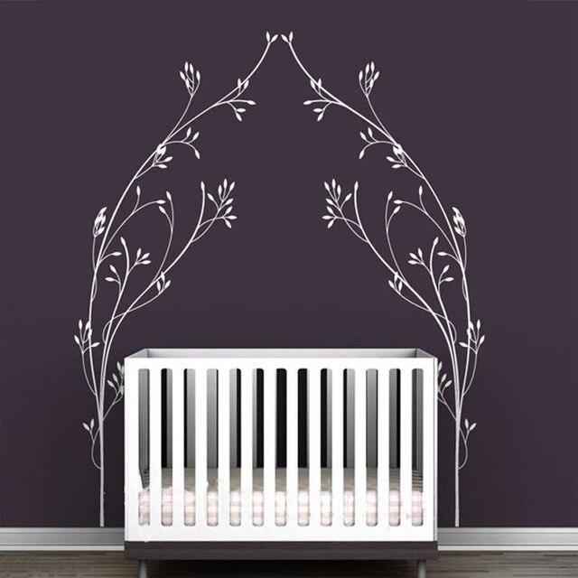 Mignon petit cygne vinyle stickers muraux pour enfants chambre décor amovible sticker mural chambre de bébé décor