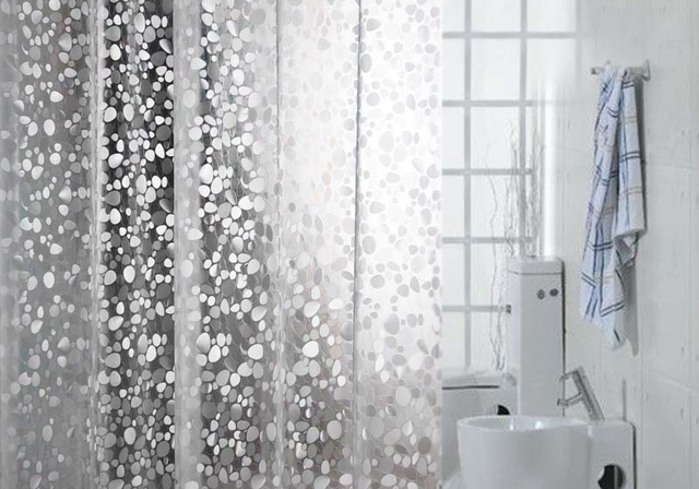 Genial Transparent Shower Curtain Thick Waterproof Shower Curtain Mildew Can Be  Customized Pebble Grain Wide Bathroom Curtain