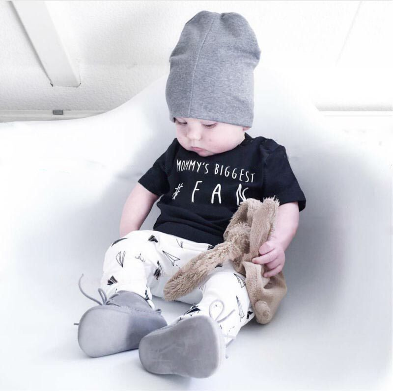 2018 Summer Baby Boy Clothing Set Cotton Short-sleeved Letter T-shirt+Pants Fashion Baby Girl Clothes Newborn Infant 2 Pcs Suit