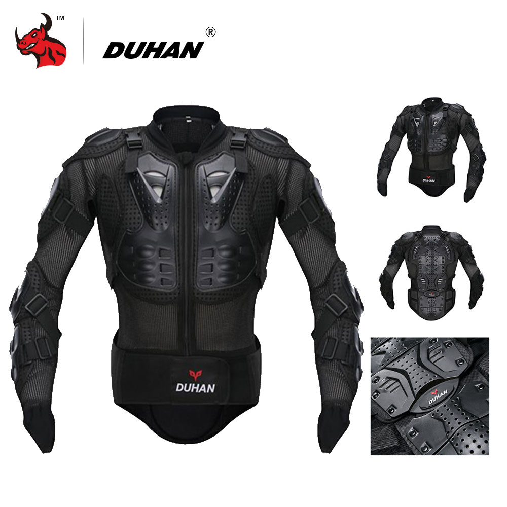 DUHAN Motorcycle Jacket Motorcycle Armor Protector Motocross Off-Road Body Protection Jacket Clothing Protective Gear herobiker armor removable neck protection guards riding skating motorcycle racing protective gear full body armor protectors