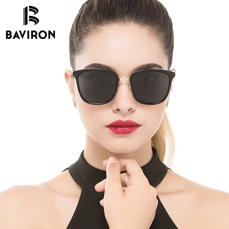 BAVIRON New Arrival Sun Glasses for Women Square Style Popular Sunglasses Female Polariz ...