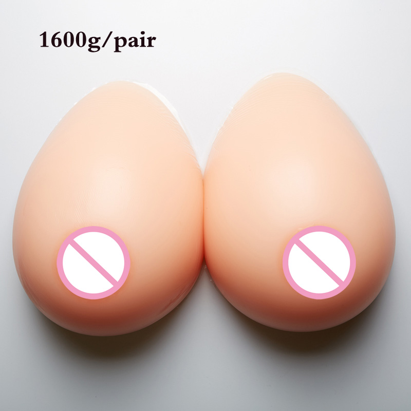 4XL 42D cup breast form 1600g Realistic Silicone breast forms For drag queen Cosplay Crossdresser Transgender