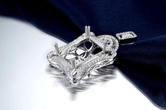 Caimao semi mount pendant emerald cut settings 076 ct diamond 18k caimao semi mount pendant emerald cut settings 076 ct diamond 18k white gold gemstone engagement fine jewelry in pendants from jewelry accessories on mozeypictures Image collections