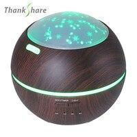THANKSHARE 150 ml Ultrasonic Umidificador Óleo de Aromaterapia Difusor de Vapor Frio Aroma Difusor de Luz 3D Ultra silencioso Estilo Estrela|Umidificadores|   -