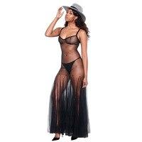 2018 Summer Dress Black Spaghetti Strap Party Dress Vestidos Celebrity Mesh Perspective Backless Draped Bandage Dress