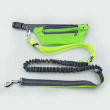 Retractable dog traction rope pet leash running training leads waterproof sports waist bag pockets dogs suppy