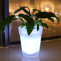 Solar Flowerpot LED Lights Solar Powered Desk Plastic Nursery Pots for Succulent plants Lightings for Christmas Decoration 流水 盆 養魚