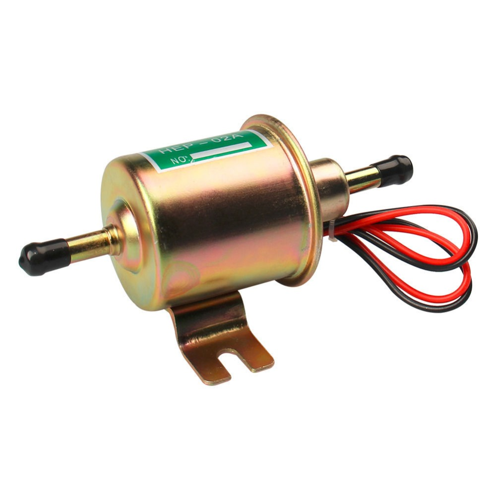 Universal 12V Gas Diesel Electric Fuel Pump Inline Low Pressure HEP-02A 4-7 PSI