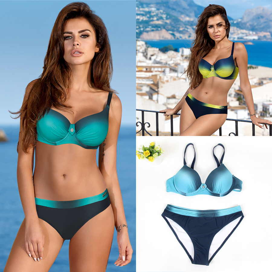 LI-FI <font><b>2018</b></font> Swimsuit <font><b>Sexy</b></font> Padded <font><b>Bikini</b></font> <font><b>Set</b></font> Push Up <font><b>Swimwear</b></font> <font><b>Women</b></font> Summer Vacation Bathing Suit Beach <font><b>Bikinis</b></font> image