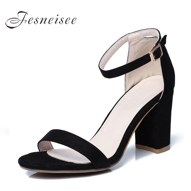 Fesneisee Summer Women Sandals Open Toe Flip Flops Womens Sandles Square Heels Women Shoes Casual Style Gladiator Shoes 4.0