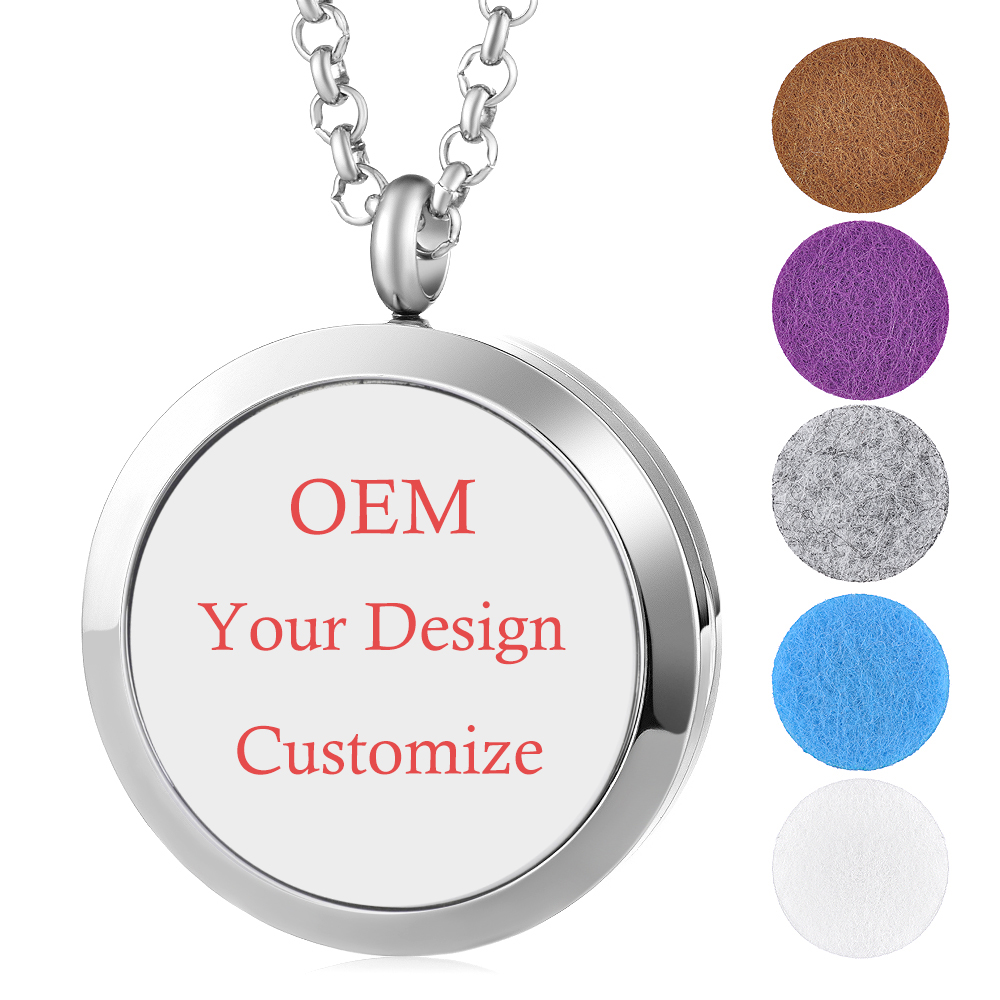 4 Styles/Set OEM Customize Gift 30mm Essential Oil Aroma Diffuser Perfume Locket 316L Stainless Steel Magnetic Locket Set VA-7164 Styles/Set OEM Customize Gift 30mm Essential Oil Aroma Diffuser Perfume Locket 316L Stainless Steel Magnetic Locket Set VA-716