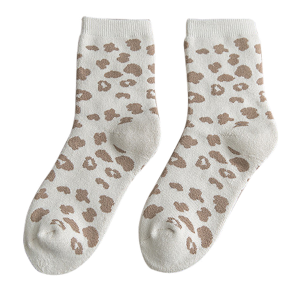 women autumn winter personality cotton leopard print socks. Black Bedroom Furniture Sets. Home Design Ideas