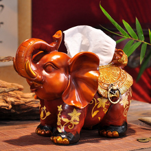 XING KILO  European luxury elephant tissue box ornaments, gifts Book living room creative decorations