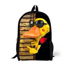 Женская мода Backbag 3D Животных Рюкзаки Cute duck Школа Bagpack для Девочек Студенты Мешок Школы детей Рюкзак