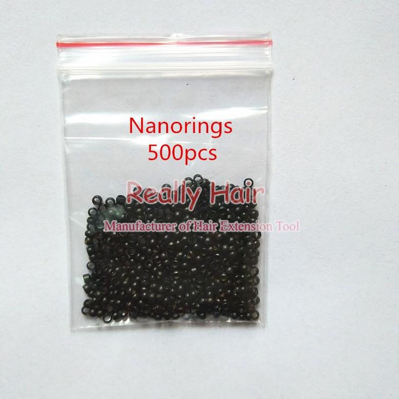 500pcs Nano rings+1pcs Nano plier+1 pcs NanoRings wooden needle for NanoRings hair extension tool kits
